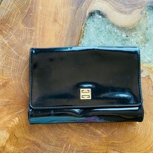 Vintage Givenchy Patent Leather Purse Clutch